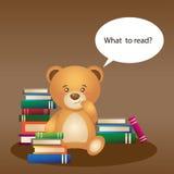 Urso com livros Foto de Stock