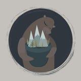 Urso com montanhas imagem de stock royalty free