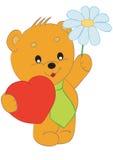 Urso com um presente ilustração stock