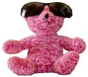 Urso cor-de-rosa da peluche nas máscaras Foto de Stock