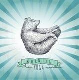 Urso da etiqueta do vintage Projeto para o t-shirt handmad Fotografia de Stock