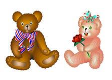 Urso 2 da peluche Imagens de Stock