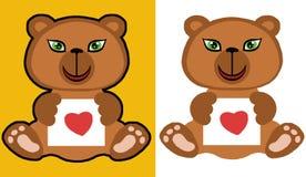 Urso da peluche com amor fotografia de stock