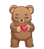 Urso da peluche com coração vermelho Foto de Stock
