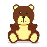Urso da peluche com correcções de programa Fotografia de Stock