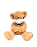 Urso da peluche com máscara imagem de stock