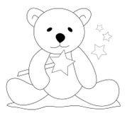Urso da peluche com varinha mágica Fotos de Stock
