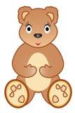 Urso da peluche da menina Imagens de Stock Royalty Free