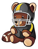 Urso da peluche do futebol Fotografia de Stock