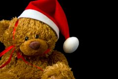 Urso da peluche do Natal foto de stock royalty free