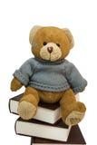 Urso da peluche e pilha de livros velhos fotografia de stock royalty free
