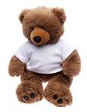Urso da peluche em uma camisa de T imagens de stock