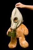 Urso da peluche em uma máscara de gás Imagem de Stock