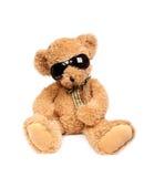 Urso da peluche em vidros de sol Imagem de Stock Royalty Free