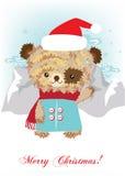 Urso da peluche na paisagem nevado Ilustração do Vetor