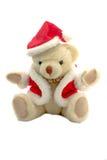 Urso da peluche no vestido de Papai Noel Foto de Stock Royalty Free