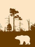 Urso da silhueta ilustração stock