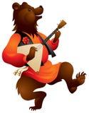 Urso de Brown com Balalaika Fotos de Stock Royalty Free