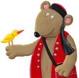 Urso de Ethno com pássaro Imagem de Stock
