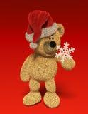 Urso de Nhi com snow-flake Foto de Stock Royalty Free