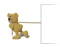 Urso de Nhi que puxa um quadro de avisos Imagens de Stock