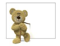 Urso de Nhi que puxa uma parte dianteira do quadro de avisos Imagem de Stock Royalty Free