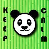 Urso de panda principal no fundo de bambu com as palavras Ilustração do vetor Imagens de Stock