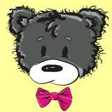Urso de peluche bonito dos desenhos animados com uma curva Fotografia de Stock