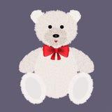 Urso de peluche com pele clara Ilustração do vetor Imagens de Stock