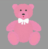 Urso de peluche com pele cor-de-rosa Ilustração do vetor Foto de Stock Royalty Free