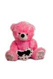 Urso de peluche cor-de-rosa grande Foto de Stock Royalty Free