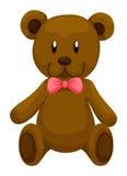 Urso de peluche de Brown com fita vermelha Imagem de Stock Royalty Free