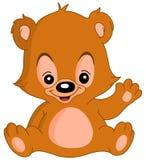 Urso de peluche de ondulação ilustração stock