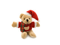 Urso de peluche do Natal foto de stock