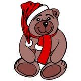 Urso de peluche do Natal Fotos de Stock Royalty Free