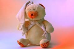 Urso de peluche do sono foto de stock