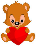 Urso de peluche do Valentim Fotos de Stock