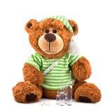 Urso de peluche doente Fotografia de Stock