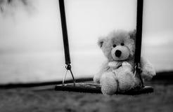 Urso de peluche em um balanço foto de stock royalty free