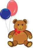 Urso de peluche engraçado, cartão do feliz aniversario Fotos de Stock