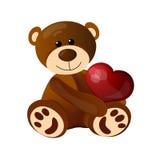 Urso de peluche engraçado que senta-se no assoalho foto de stock