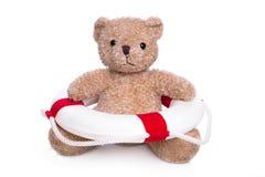 Urso de peluche isolado - conceito para o curso nadador. Imagem de Stock