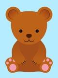 Urso de peluche marrom pequeno adorável Fotos de Stock