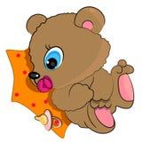 Urso do bebê que joga com pacifier Foto de Stock Royalty Free