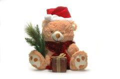 Urso do brinquedo do Natal imagem de stock royalty free