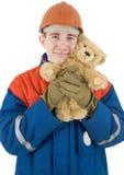 Urso do construtor e do brinquedo Imagens de Stock