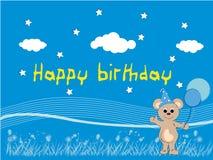 Urso do feliz aniversario Fotos de Stock
