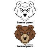 Urso do logotipo Foto de Stock