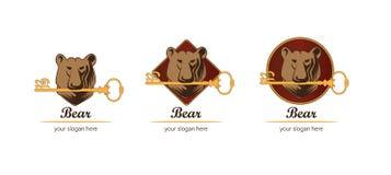 Urso do logotipo Imagens de Stock