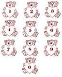 Urso do número Imagens de Stock